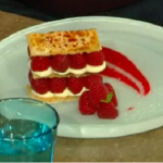 James Martin raspberry millefeuille  recipe on Saturday Kitchen