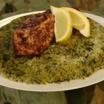 Sabrina Ghayour Persian herb rice recipe on Saturday Kitchen