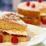 Simon Rimmer Victoria sponge with goats' cheese buttercream recipe on Sunday Brunch
