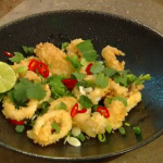 James Martin deep fried squid with yuzu juice and chillies recipe on Saturday Kitchen