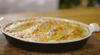 """Raymond Blanc serves up chicory gratin with Swiss chard stalks on Kew on a Plate. Raymond says: """"A beloved classic of Belgian cooking; this is a simple, rustic family dish...."""