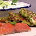 Bill Granger baked salmon with courgette fritters recipe on Lorraine