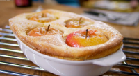 """Raymond Blanc served up a delicious semolina souffle with baked English apples using his mother's recipe for his food revival dish on Food and Drink. Raymond says: """"I adore this..."""
