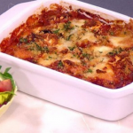 Dean Edwards Baked aubergine rolls recipe on Lorraine
