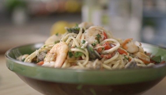 how to make seafood linguine