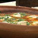 Rick Stein's Moroccan lamb kofta meatballs tagine with eggs recipe on Saturday Kitchen