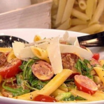 James Tanner Spanish penne pasta with chorizo recipe on Lorraine