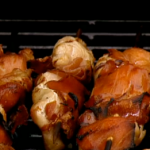 Phil Vickery BBQ Chicken wings and air dried ham skewers with peanut dipping sauce recipe on This Morning