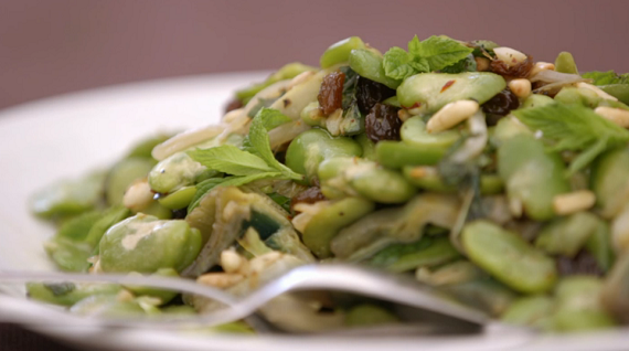 Ainsley Harriott Sicilian broad beans and artichoke salad recipe on ...