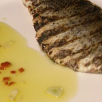 Rick Stein grey mullet with Tuscan olive oil sauce recipe on Saturday Kitchen