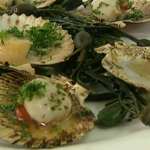 Rick Stein Scallops with seaweed butter recipe on Saturday Kitchen