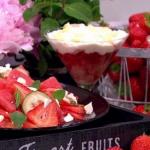 John Whaite Mini strawberry Eaton mess trifles and Strawberry ceviche salad recipe on Lorraine