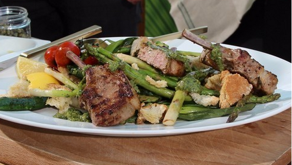 ... Edwards barbecue lamb chops with minted salsa verde recipe on Lorraine