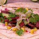 James Tanner Asian beef fajitas recipe on Lorraine