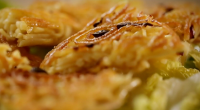 Nigel Slater served up crisp noodle cake with basil cream on Nigel Slater: Eating Together. The ingredients are: 600ml double cream, 40g dried ancho chillies (mild Mexican chilli pepper, available...