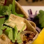 Dean Edwards Crispy falafels in pitta recipe on Lorraine