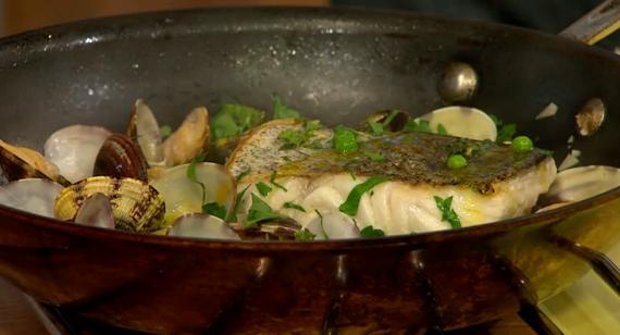 Jose Pizarro Pan-fried Hake with Clams recipe on Sunday ...