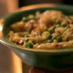 Nigella Lawson pea and pancetta risotto recipe on Saturday Kitchen