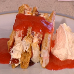 Phil Vickery ultimate strawberry mille feuille dessert recipe on This Morning