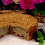 John Whaite blackberry and ginger crumble cake recipe on Lorraine