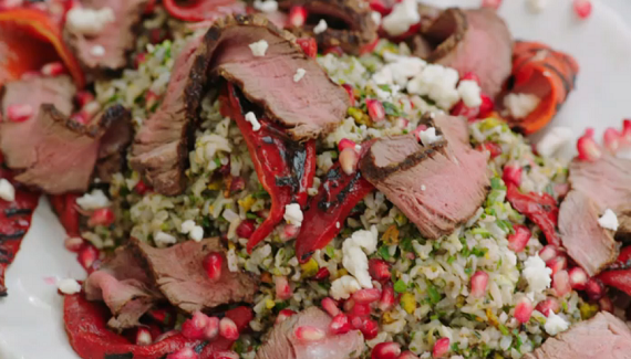 Jamie oliver grilled steak with toasted nuts recipe on jamies the full recipe can be found in jamies new cook book everyday super food forumfinder Choice Image