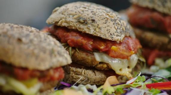 jamie oliver mega veggie tofu burger recipe on jamie s super food the talent zone. Black Bedroom Furniture Sets. Home Design Ideas
