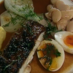 Rick Stein grilled cod with aioli and butter beans recipe on Saturday Kitchen