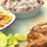 Levi Roots jerk chicken with rice and Caribbean slaw recipe on Lorraine
