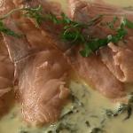 Rick Stein salmon with sorrel sauce recipe on Saturday Kitchen