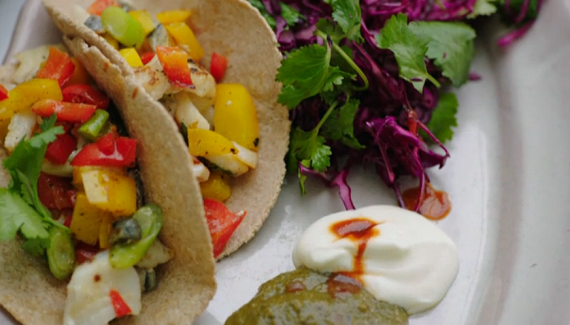 Jamie Oliver fish tacos recipe on Jamie's Superfood – The Talent Zone