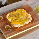 Internet sensation chef Donal Skehan coconut and mango passion fruit cake recipe on This Morning