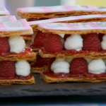 Paul Hollywood raspberry mille feuille recipe on The Great British Bake Off 2015 Final