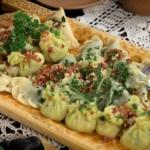 Pierogi Polish dumplings on Len and Ainsley's Big Food Adventure