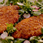 Nigella Lawson cornflakes crunchy chicken cutlets with fennel, watercress and radish salad recipe on Simply Nigella