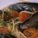 Gino's spaghetti with mussels and cherry tomatoes recipe on This Morning