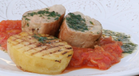 Brian Turner served up a tasty roast pork fillet with apple and tomato chutney dish for singer Lesley Garrett on My Life on a Plate. Brian designed his recipe to...