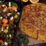 James Tanner's roast veg and rosti potatoes recipe on Lorraine