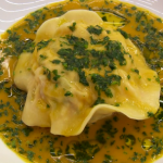 Marcus Wareing lobster and salmon ravioli with lobster sauce recipe on MasterChef: The Professionals