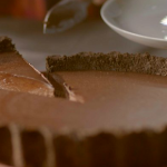 Nigella Lawson dark chocolate tart with smoked salt and chocolate sandwich biscuits recipe