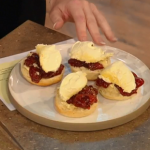 James Martin Scottish scones with strawberry jam recipe on Saturday Kitchen