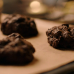 Nigella Lawson triple chocolate buckwheat cookies recipe on Simply Nigella Christmas Special