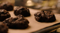 "Nigella Lawson make delicious gluten-free triple chocolate buckwheat cookies for the festive season on Simply Nigella Christmas Special. Nigella says: ""The star here is the buckwheat, not only because it..."