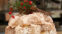Paul Hollywood make a delicious Italian pandoro with citrus zest dessert for Christmas on The Great British Bake Off Christmas Masterclass.