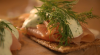 "Nigel Slater servd up tasty smoked salmon and garlic cream canape for the festive season on Saturday Kitchen. Nigel says: ""This dish is a simple way to impress your dinner..."