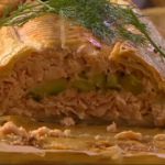 Nigel Slater salmon wellington recipe on Saturday Kitchen