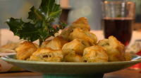 "Nigel Slater served up tasty Stilton puffs for the festive season on Saturday Kitchen. Nigel says: ""These ready-made puff pastry are perfect for party nibbles. Stuff with a little of..."