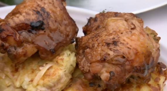 The Hairy Bikers chicken thigh stuffed with parsley and thyme recipe ...