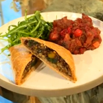 Lorraine Pascale  vegetarian mini chestnut  and apple Wellingtons recipe on Saturday Kitchen