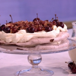 Donal Skehan show-stopping dessert black forest pavlova recipe on This Morning