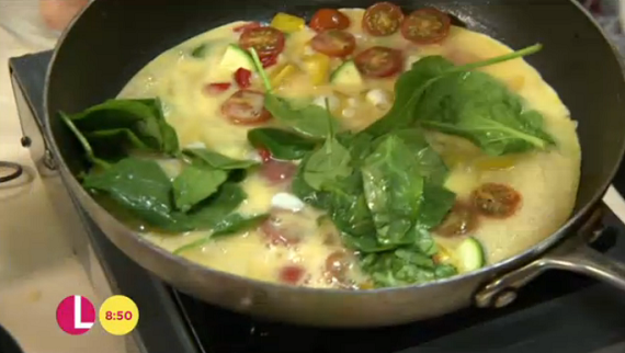 Sally Bees omelette frittata recipe on Lorraine | TV Foods